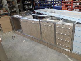 Keukenblok met RVS frame